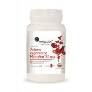 ALLINES Żelazo organiczne MicroFerr®25mg – 100tabl.