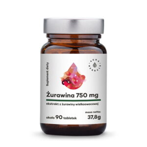 Aura Herbals Żurawina (750mg)- 90szt.