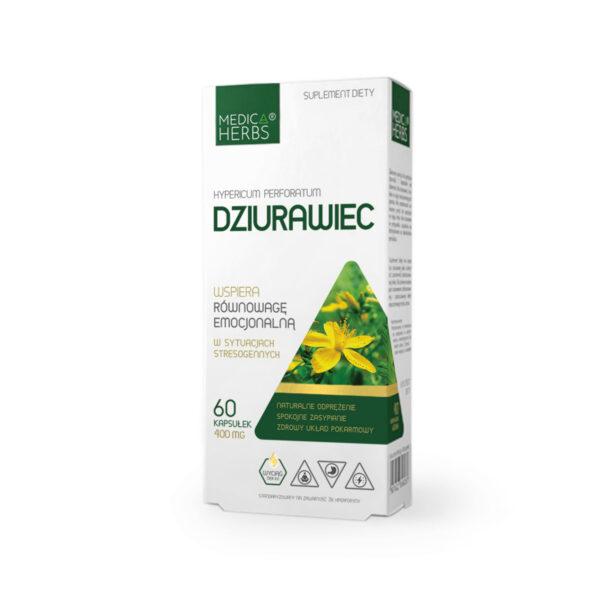 Medica Herbs Dziurawiec, suplement diety, zielarnia klasztorna